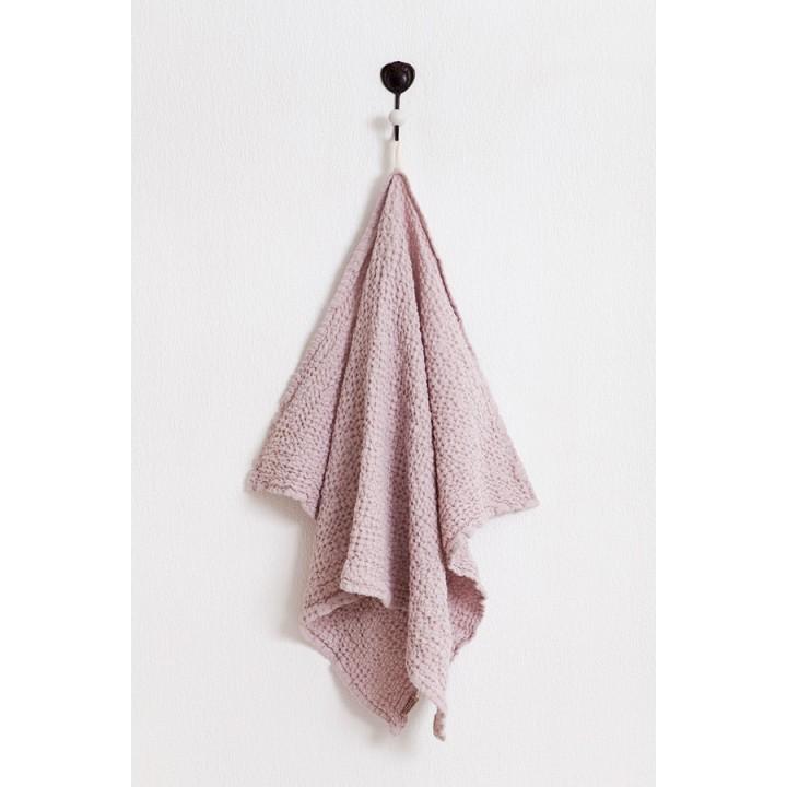 Полотенце «Towel Line» вафельное (цвет: ягодный крем; 75х120 см; 50% хлопок, 50% лен)