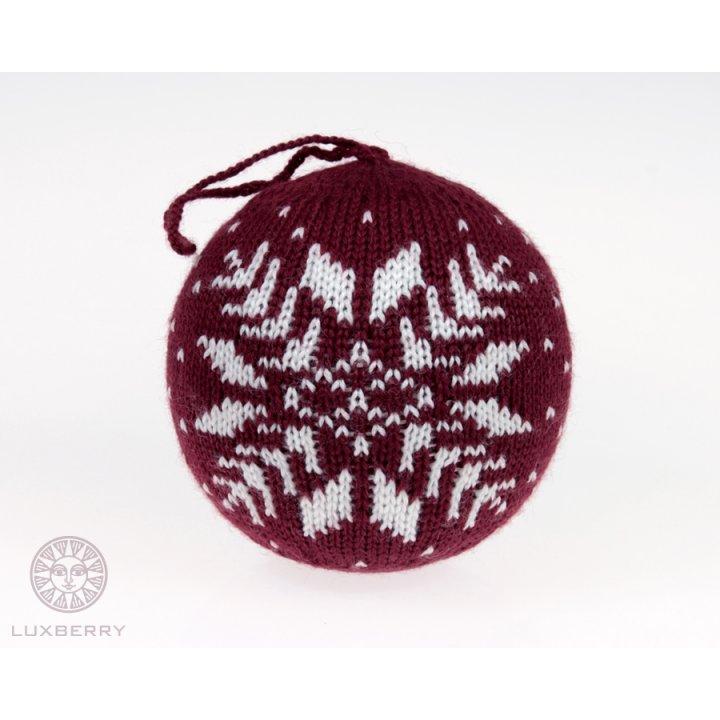 Декоративный шар Norway (цвет: бордо/белый)