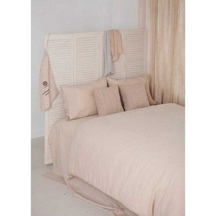 Комплект постельного белья «Bedroom Line» (цвет: бежевый; 1,5 - спальный; 100% лен)