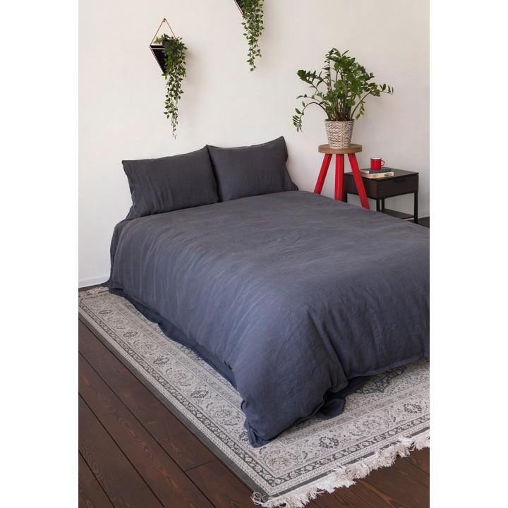 Комплект постельного белья «Bedroom Line» (цвет: графитовый; 1,5 - спальный; 100% лен)