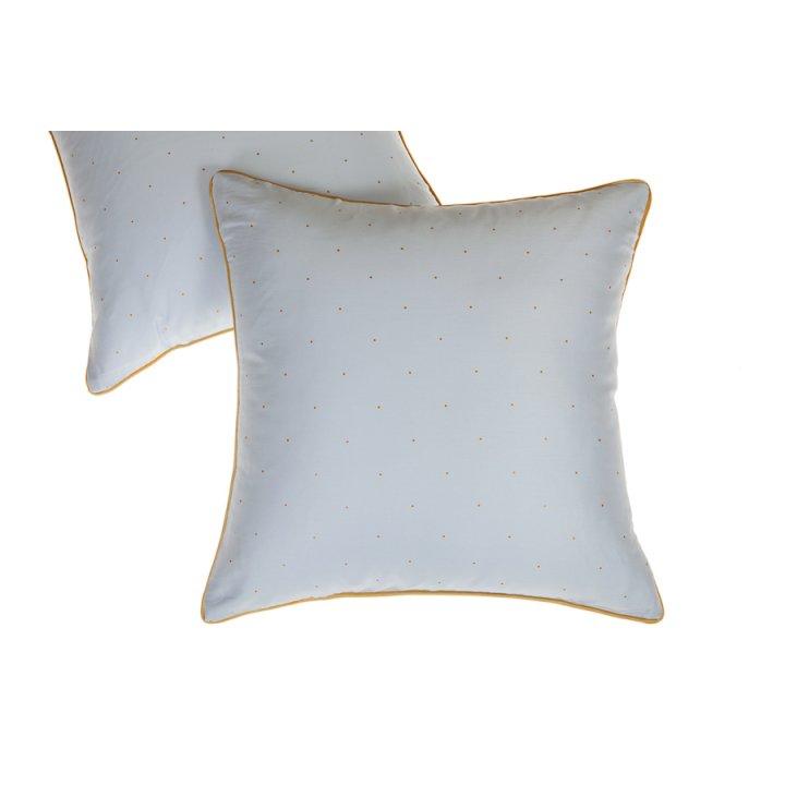 Декоративная наволочка «Павлин» (цвет: голубой, 42х42 см, сатин)