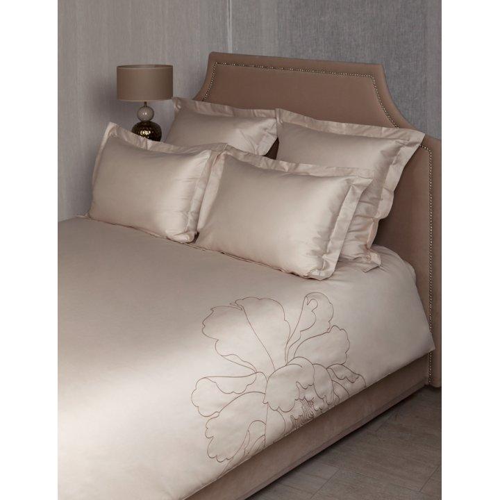 Комплект постельного белья «Peony» (цвет: песочный/бежевый, 1,5 - спальный, сатин)