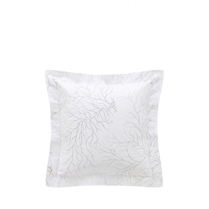 Декоративная наволочка «Coral» (47х47 см; цвет: белый/серый; 100% хлопок)