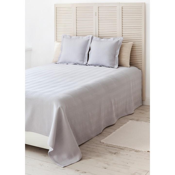 Покрывало «Dacha» (цвет: серый; 100% хлопок; 240х260 см)
