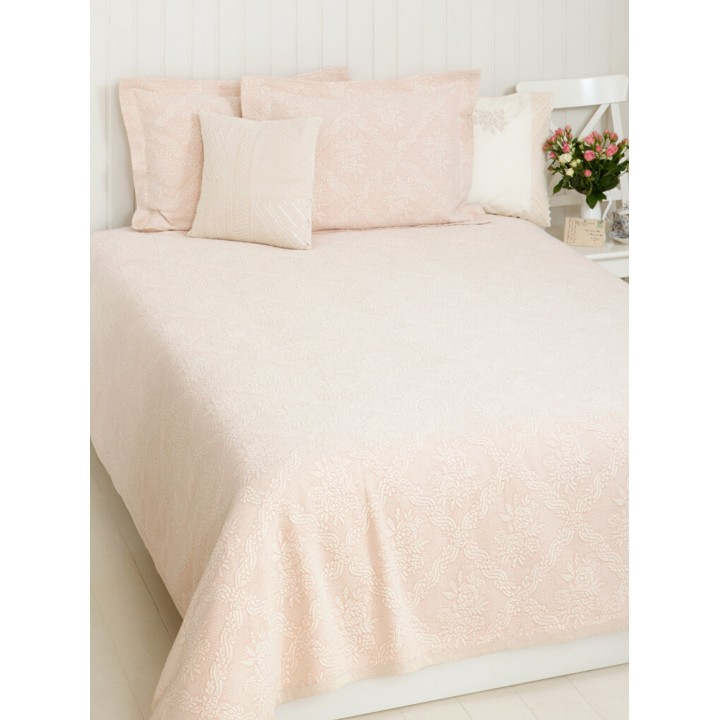 Покрывало «Ilia» (цвет: розовый; 150х220 см; 100% хлопок)