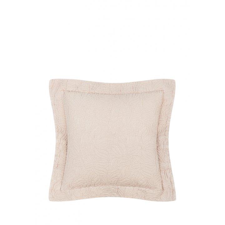 Декоративная наволочка «Каменный цветок» (цвет: пудра, 47х47см)