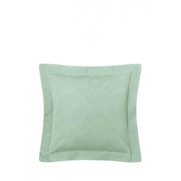 Декоративная наволочка «Lana» (цвет: зеленый, 47х47см)