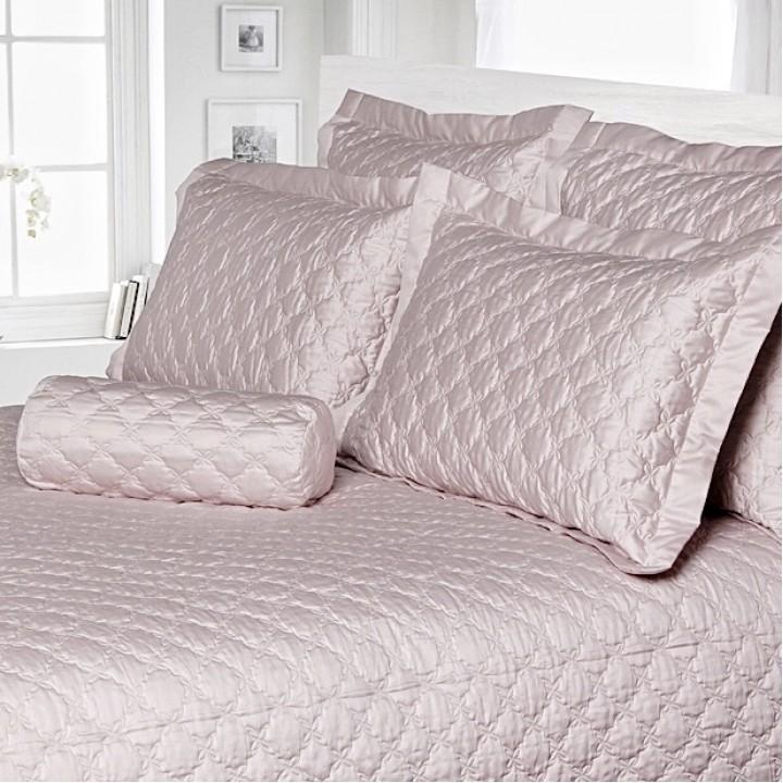 Покрывало стеганое «Pearl» (цвет: розово-жемчужный; 200х220 см; сатин, 100% хлопок)