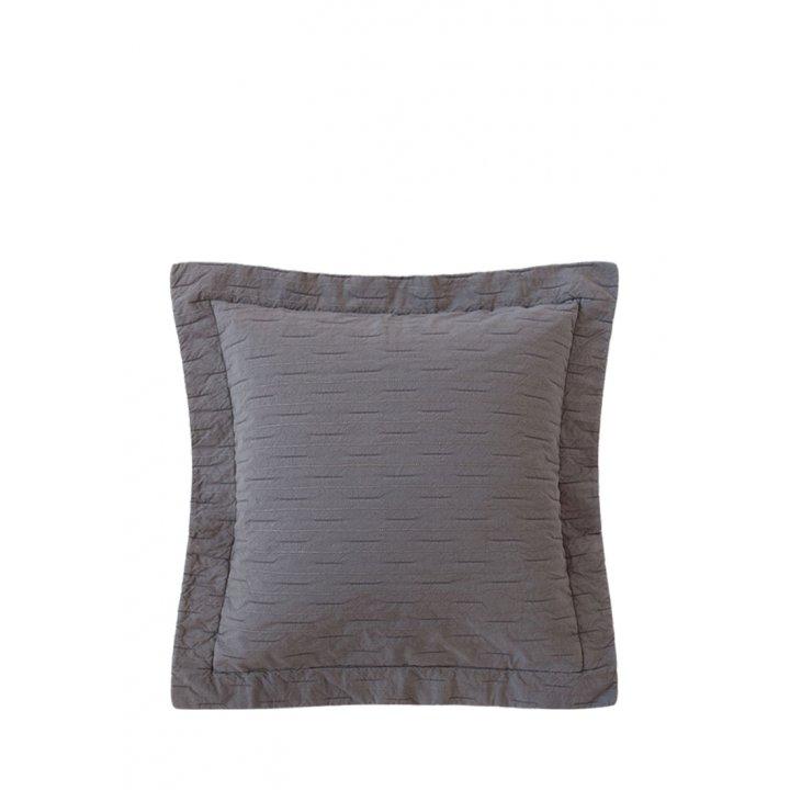 Декоративная наволочка «Silver Rain» (цвет: серый, 47х47см)