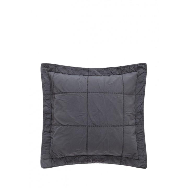 Декоративная наволочка «Soho» (47х47 см; цвет: антрацит; 100% хлопок)