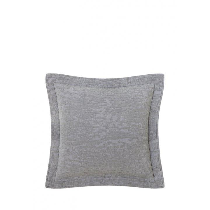 Декоративная наволочка «Velvet» (цвет: серый, 47х47см)