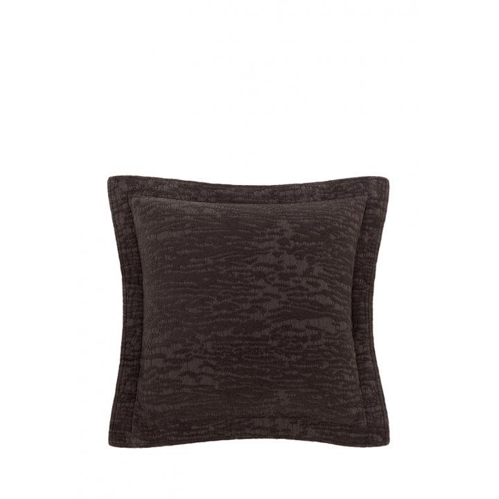 Декоративная наволочка «Velvet» (цвет: темный шоколад, 47х47см)