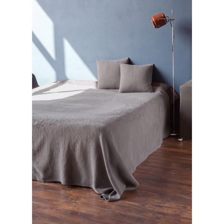 Покрывало «Vincent», цвет: серый/сепия (100% хлопок; 220х240 см)