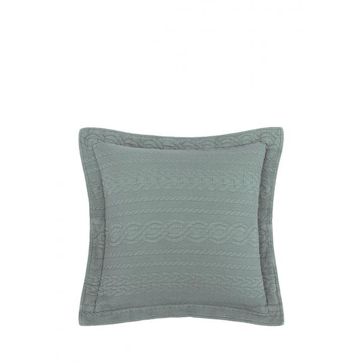 Декоративная наволочка «Зефир» (цвет: зеленый, 47х47см)
