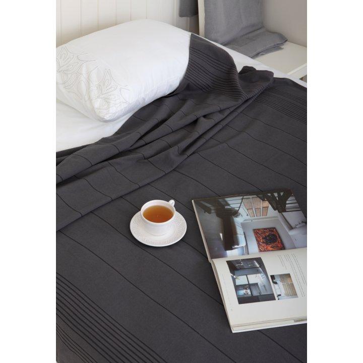 Простыня махровая для укрывания «Simple» (цвет: антрацит; 150х200 см; махра: 100% хлопок)
