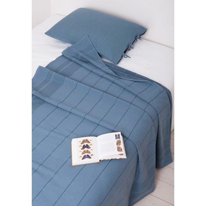 Простыня махровая для укрывания «Simple» (цвет: индиго, 150х200 см, махра: 100% хлопок)
