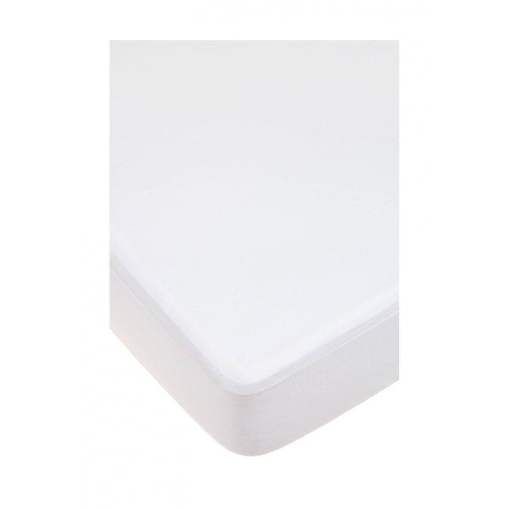 Наматрасник-чехол защитный (цвет: белый, 160х200х30см, хлопок/полиуретан)