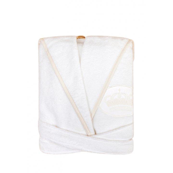 Халатик «Queen» (цвет: белый/бежевый, размер 3-4 года)