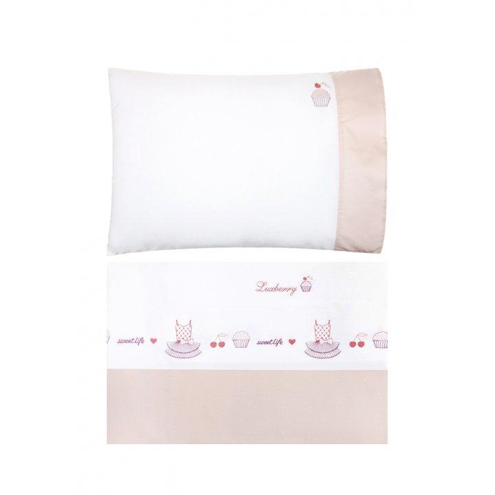 Комплект постельного белья для подростков «Sweet Life» (цвет: белый/жемчужно-розовый, 140х205 см, перкаль)