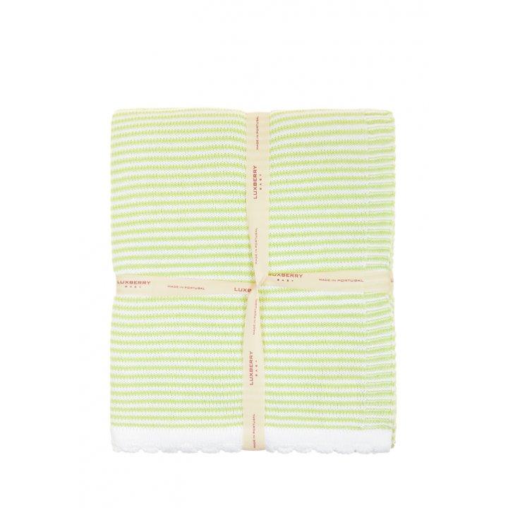 Плед детский «Imperio №207»  (цвет: зеленый/белый, 100х150 см)