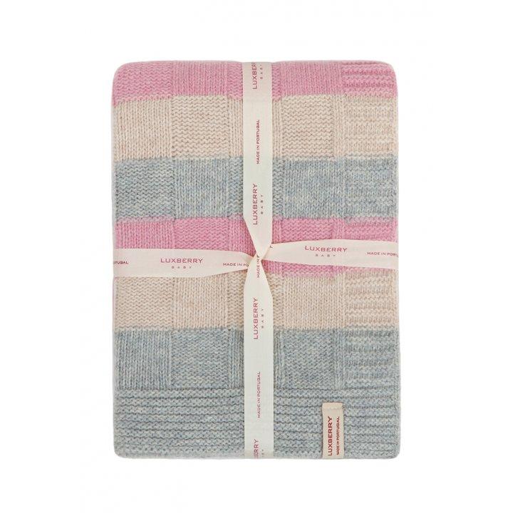 Плед детский «Lux №218»  (цвет: розовый/серый/бежевый, 75х100 см)