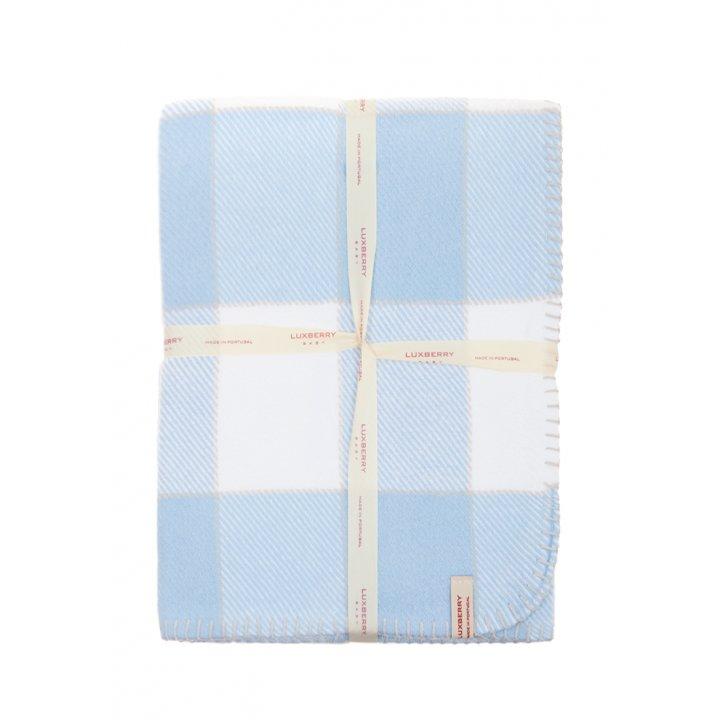 Плед детский «Vanessa»  (цвет: голубой/белый, 100х150 см)