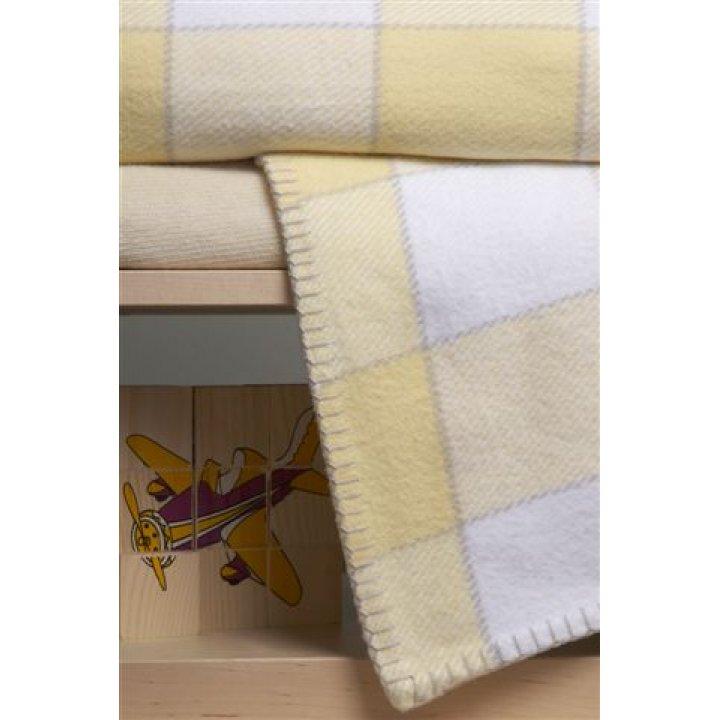 Плед детский «Vanessa»  (цвет: желтый/белый, 100х150 см)