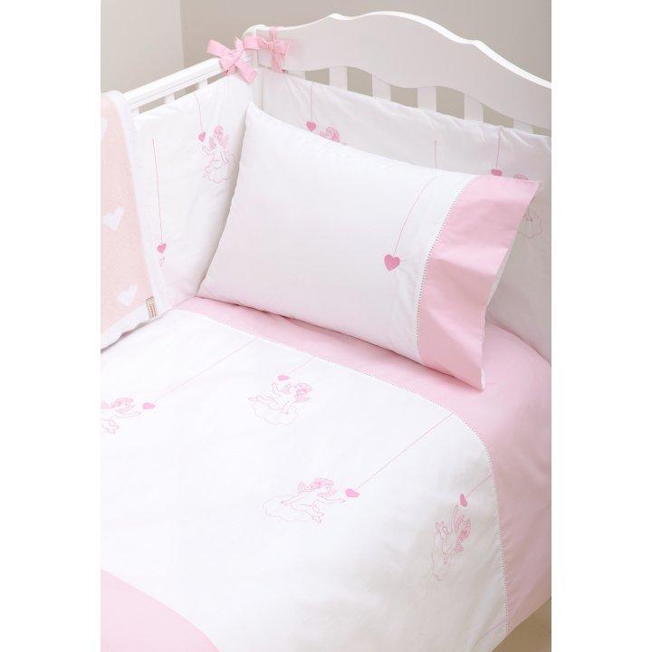 Чехол для бампера «Angels» (цвет: белый/розовый, 45х195 см, перкаль)