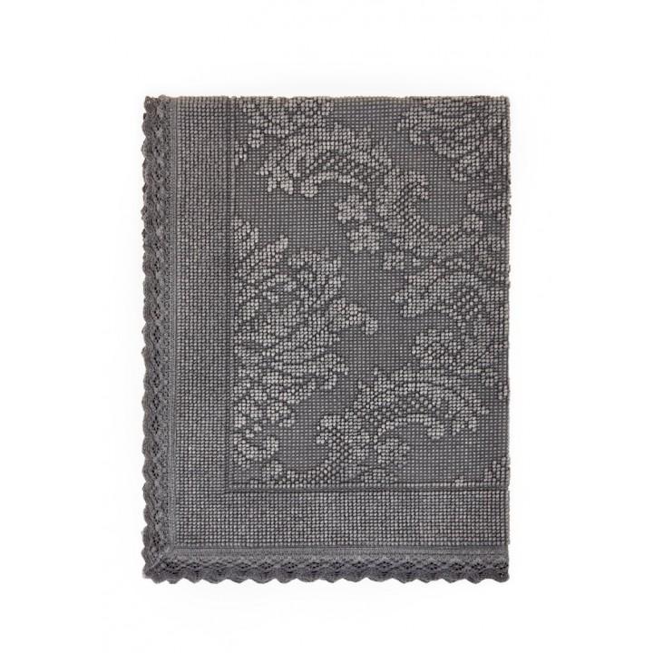Коврик «Vintage №1», цвет: темно-серый (70х100 см; 100% хлопок)