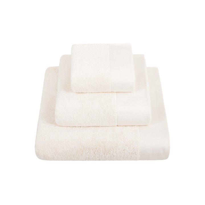 Комплект «Basic» из 3 полотенец (цвет: экрю, 30x50 см (1), 50х100 см (1), 70х140 см (1), махра)