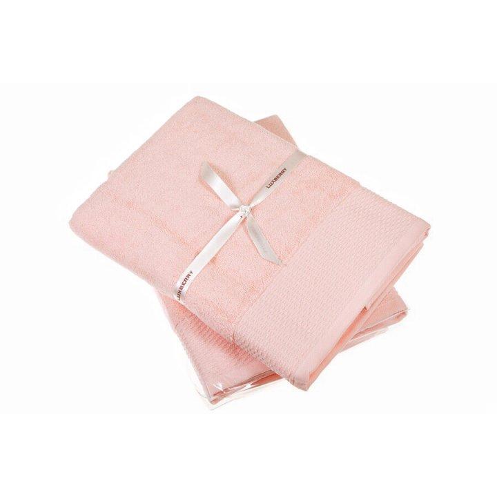 Полотенце «Joy» (цвет: розовый, 50х100 см, махра)