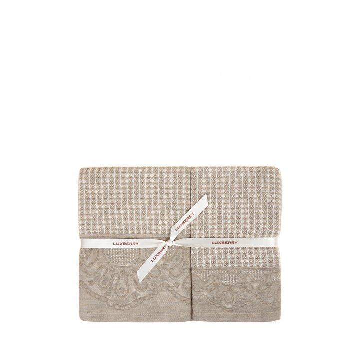 Комплект «Lille» из 3 полотенец (цвет: натуральный, 30х50 см (1), 50х100 см (1), 70х140 см (1), вафельные)