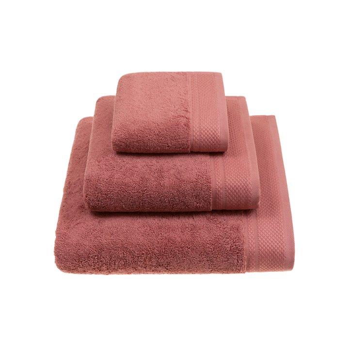 Комплект «Ritz» из 3 полотенец (цвет: гранатовый, 30х50 см (1), 50х100 см (1), 70х140 см (1), махра)