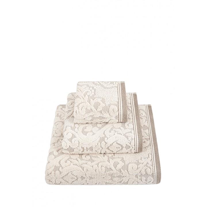 Полотенце махровое «Royal», цвет: натуральный (70x140 см; жаккардовая махра: 83% хлопок, 17% лен)