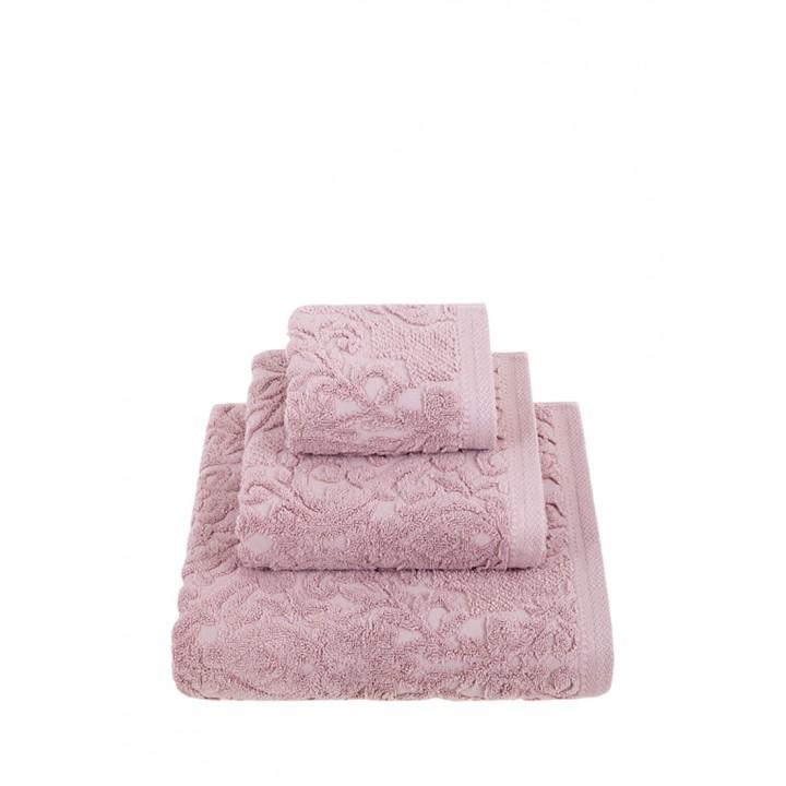 Комплект махровых полотенец «Royal», цвет: розовый (размеры: 30х50 см (1), 50х100 см (1), 70х140 см (1); жаккардовая махра: 100% хлопок)
