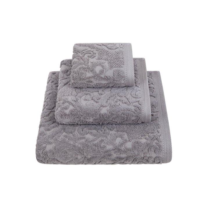 Комплект «Royal» из 3 полотенец (цвет: темно-серый, 30х50 см (1), 50х100 см (1), 70х140 см (1), махра)