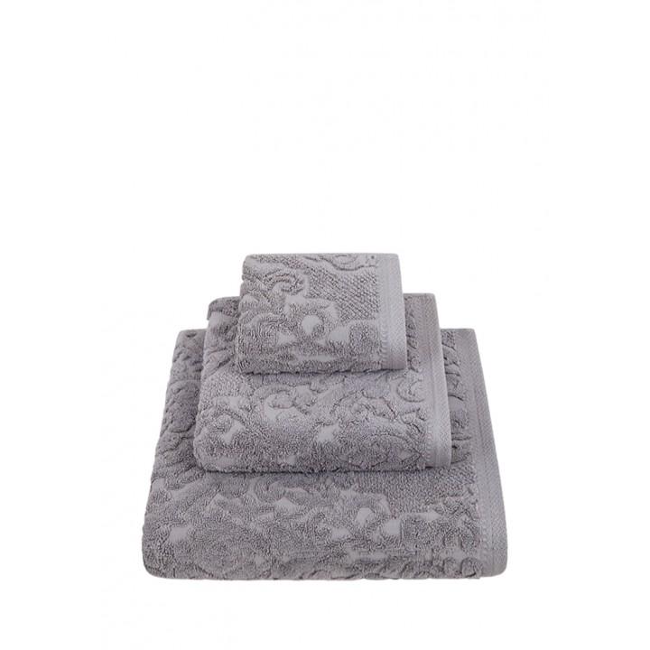 Полотенце махровое «Royal», цвет: темно-серый (50x100 см; жаккардовая махра: 100% хлопок)