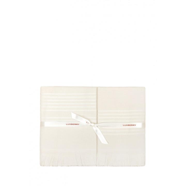 Полотенце махровое «Simple», цвет: экрю (50x100 см; гладкотканая/махра: 100% хлопок)