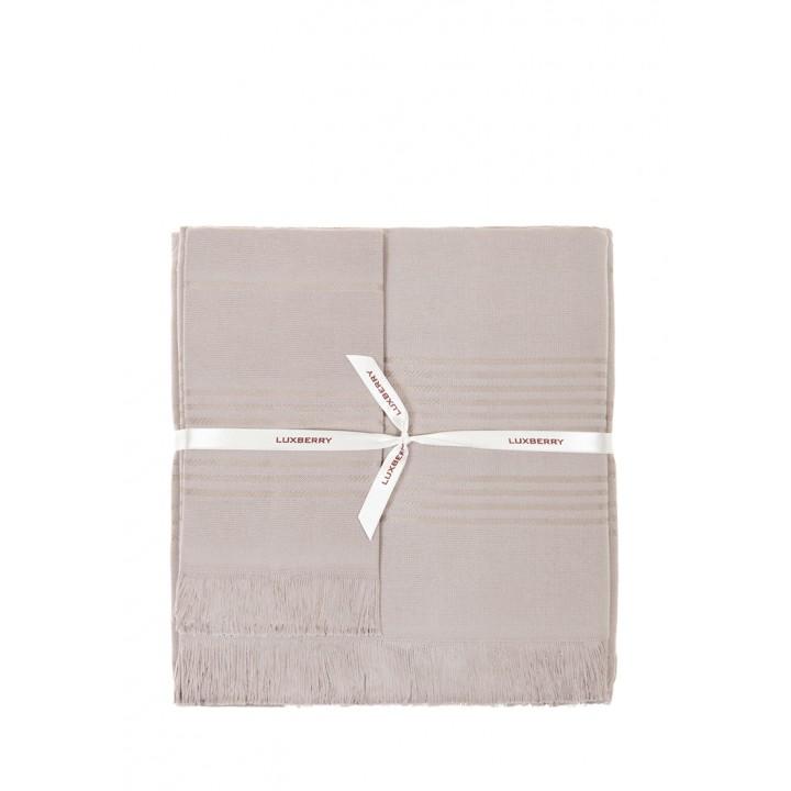 Полотенце махровое «Simple», цвет: мокко (50x100 см; гладкотканая/махра: 100% хлопок)