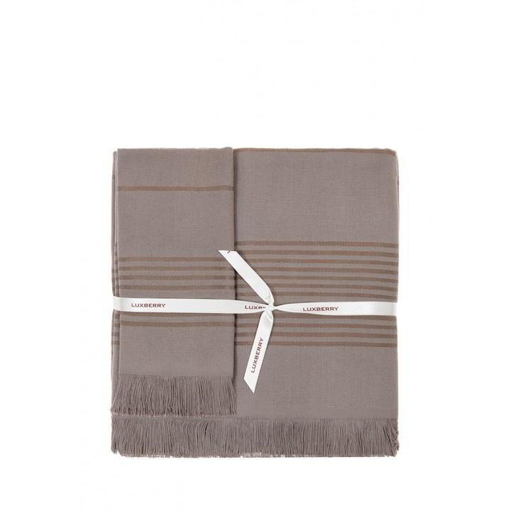 Полотенце махровое «Simple», цвет: шоколад (70x140 см; гладкотканая/махра: 100% хлопок)