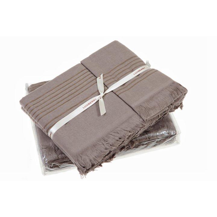 Полотенце «Simple» (цвет: шоколад, 70x140 см, махра)