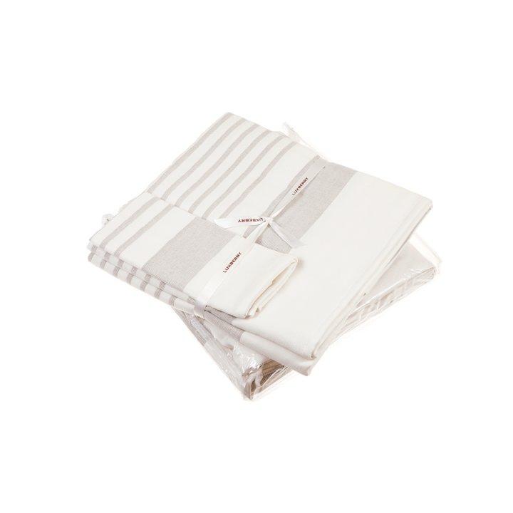 Полотенце «Spa №2» (цвет: белый/льняной, 50x100 см, махра)