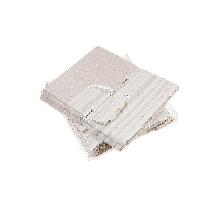 Комплект «Spa №3» из 3 полотенец (цвет: белый/льняной, 30х50 см (1), 50х100 см (1), 70х140 см (1), махра)
