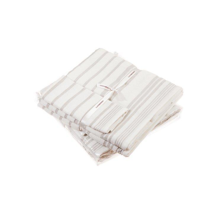 Комплект «Spa №4» из 3 полотенец (цвет: белый/льняной, 30х50 см (1), 50х100 см (1), 70х140 см (1), махра)