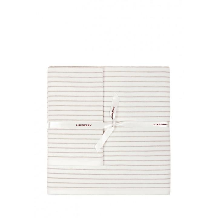 Комплект махровых полотенец «SPA №5», цвет: белый/льняной (размеры: 30х50 см (1), 50х100 см (1), 70х140 см (1); гладкотканая/махра: 97% хлопок, 3% лен)