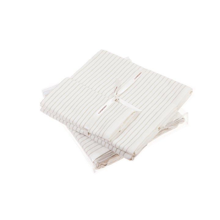 Полотенце «Spa №5» (цвет: белый/льняной, 70x140 см, махра)