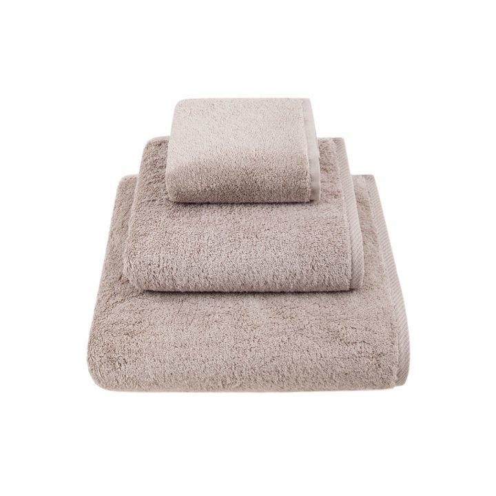 Комплект «Teddy» из 3 полотенец (цвет: серо-бежевый, 30x50 см (1), 50х100 см (1), 70х140 см (1), микрокоттон)