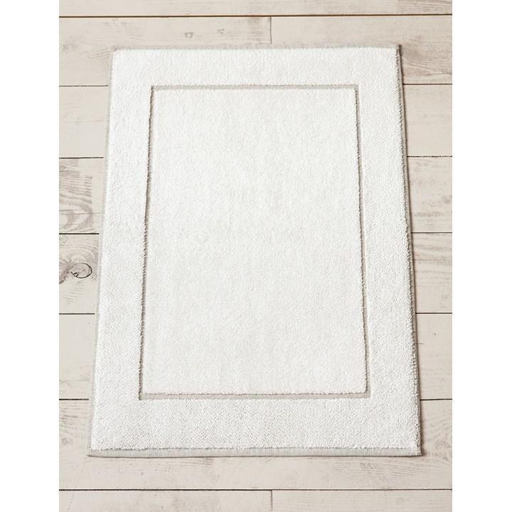 Полотенце для ног «Touch» (цвет: белый/льняной, 50х70 см, махра, 83% хлопок, 17% лен)