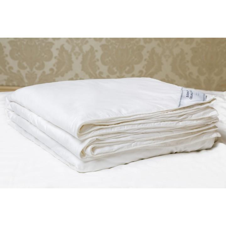 Одеяло шелковое всесезонное «Premium Royal Silk» (140х205 см; наполнитель: 100% шелк Mulberry, высшая категория; чехол: жаккард, 100% хлопок; цвет: белый)