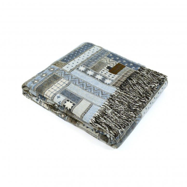 Плед шерстяной «BALTIMORA 6950» (цвет: светло-голубой, 130х180 см, шерсть мериноса)